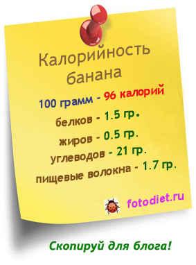 Сколько грамм в одном банане